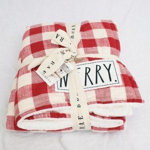 Rae Dunn Merry Christmas Blanket
